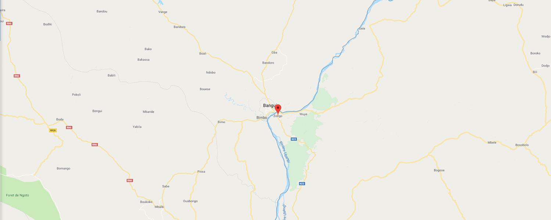 localisation de ethnie Bwaka