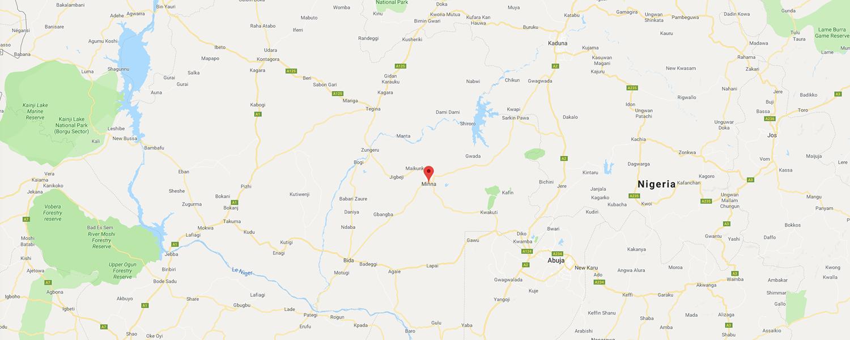 localisation de ethnie Gbari / Gwari