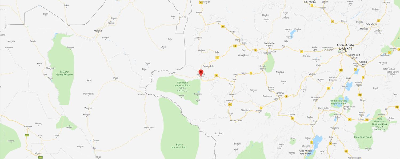 localisation de ethnie Nuer / Naadh