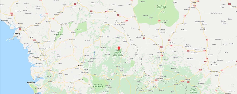 localisation de ethnie Temne