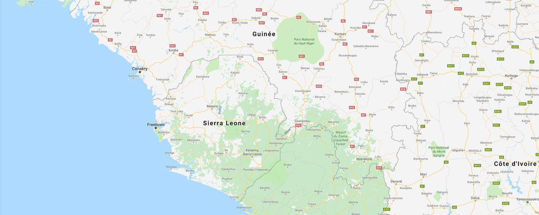 localisation de ethnie John Goba