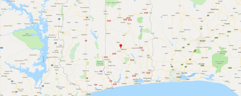 localisation de ethnie Fon / Fongbe
