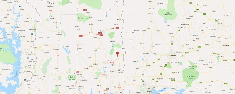 localisation de ethnie Yoruba / Yorouba