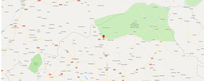 localisation de ethnie Peul Rimaybe / Rabese
